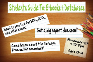Student's Guide to: E-books and Databases