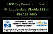 3100 Ray Ferrero, Jr. Blvd. Ft. Lauderdale, FL 33314