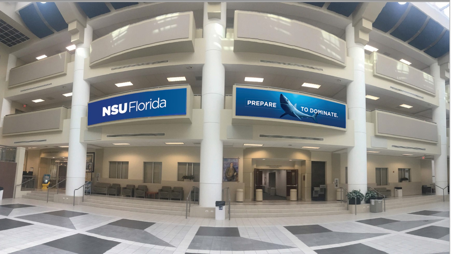 NSU Florida on campus display