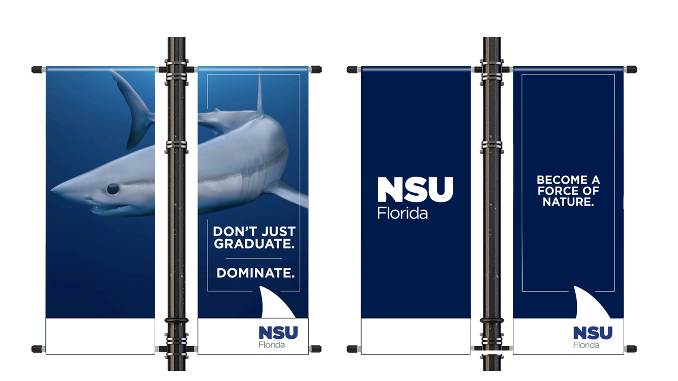 NSU Florida Shark Circle Pole Banners