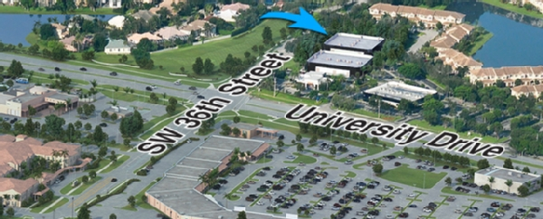 Map to the Office of Business Services at Nova Southeastern University.