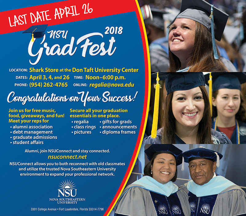 NSU Commencement - Announcements and School Ring Information for Parents