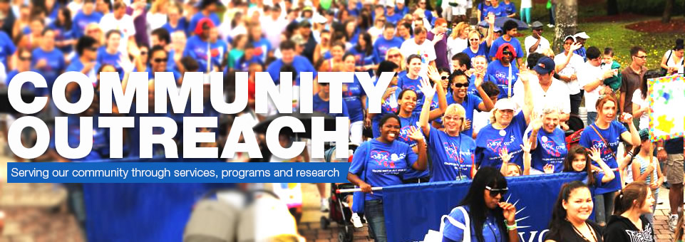 Community Outreach...Serving our community through services, programs and research