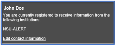 You have completed the registration process