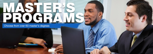 Master's Programs...Choose from over 60 master's degrees