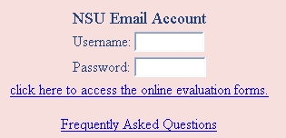 Evaluation login screenshot