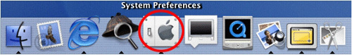 Mac OS X Network settings icon