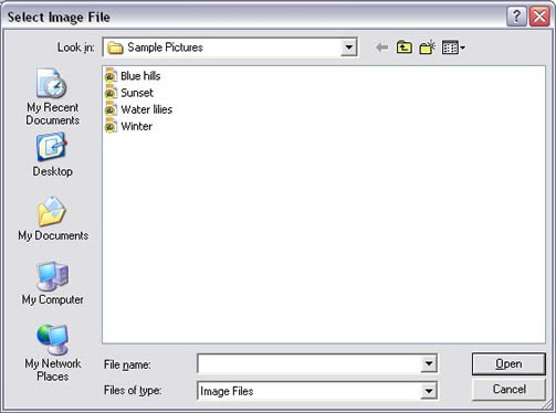 Netscape 7 Image Properties Local File screen