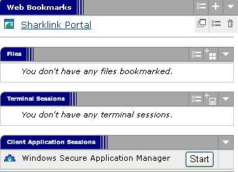 NSU VPN Bookmarks List screenshot