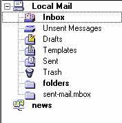 Webmail Netscape Local Mail Folders