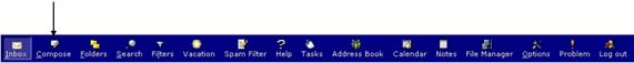 WebMail Messages Icon on Toolbar