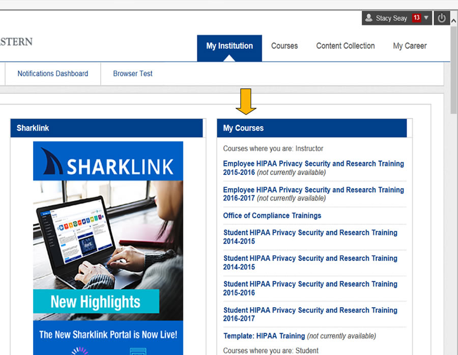 Sharklearn courses information