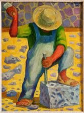 Stone Worker by Diego Rivera
