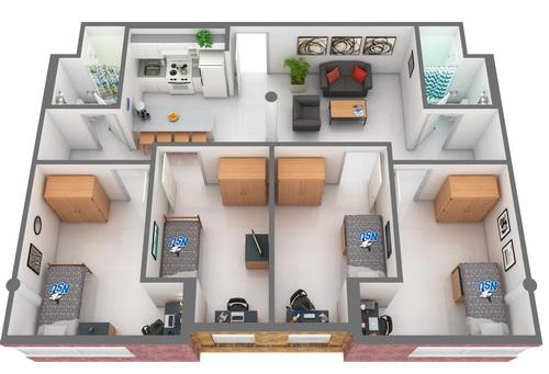Quad Bedroom Part 89