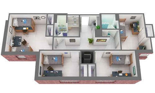 The Commons: 3 Single Bedrooms / 1 Double