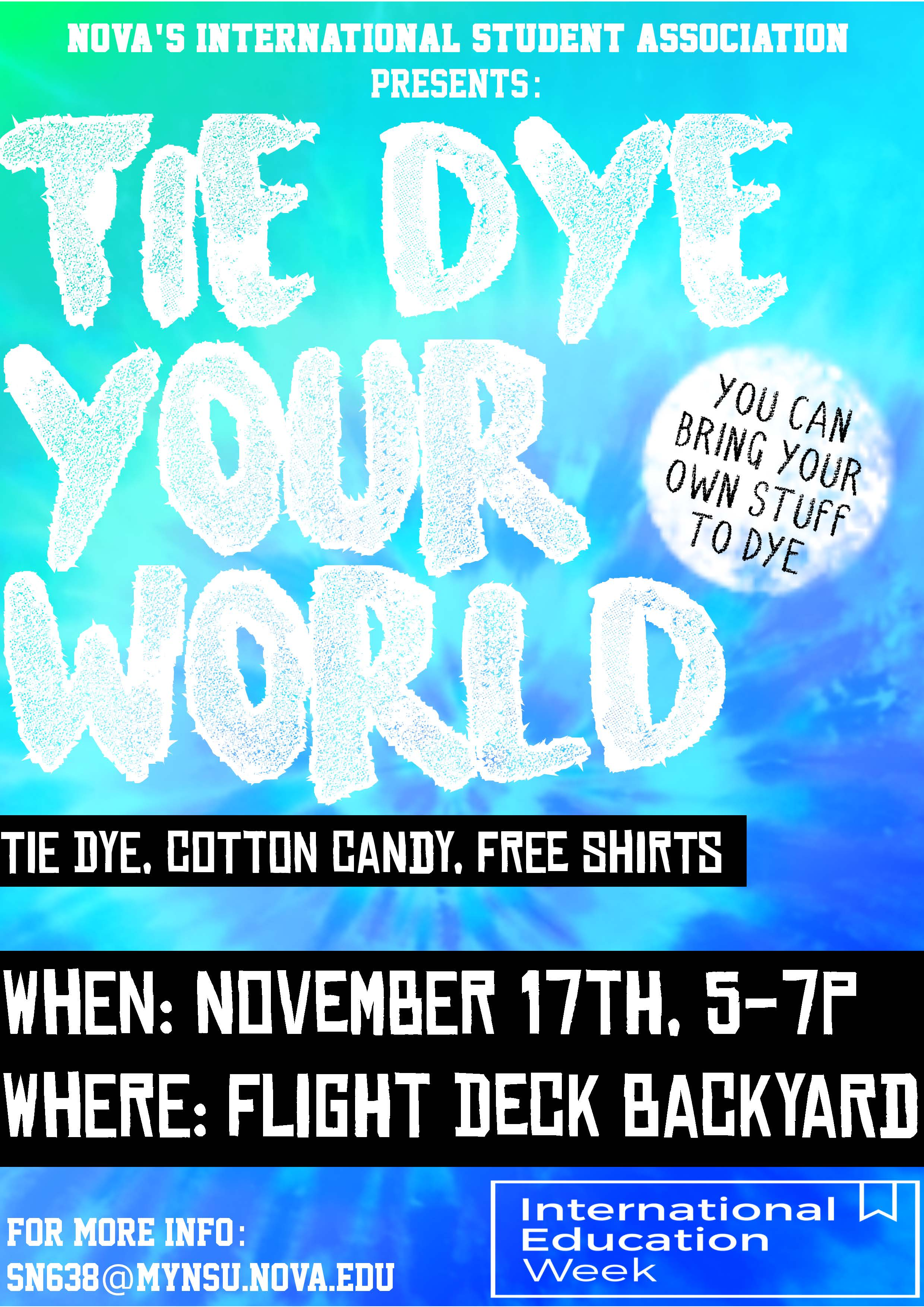 Tie Dye Your World Flyer