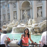 Photo: Student on Location in Rome