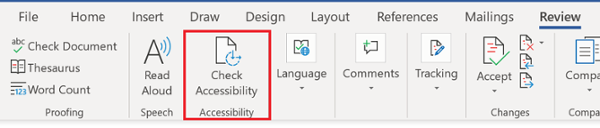 MS Office Accessibility Checker