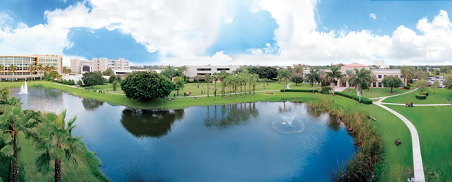 Aerial view of NSU's Fort Lauderdale-Davie Campus