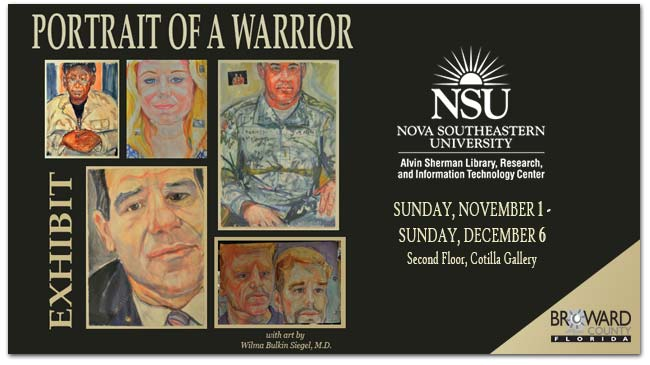 NSU Alvin Sherman Library Portrait of a Warrior