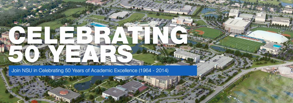 Join NSU in celebrating 50 years of excellence