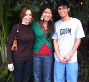 Left to Right: Amber Brittain, Wendy Song and William Trinh