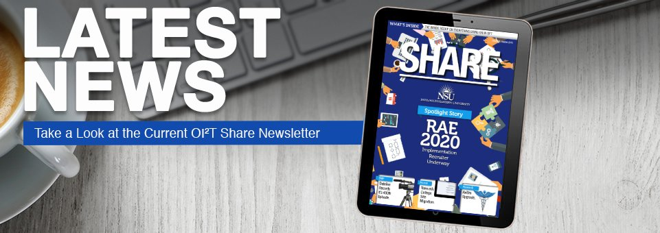 Latest News - Take a Look at the Current OI2T Share Newsletter