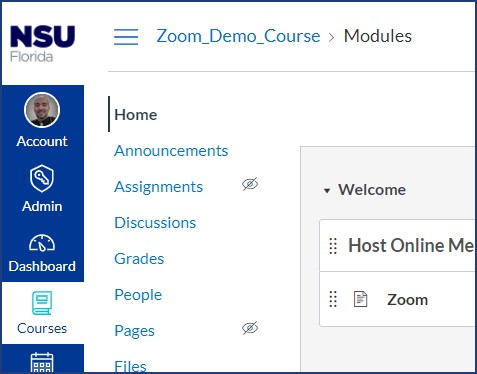 Zoom-Canvas-Course-Menu
