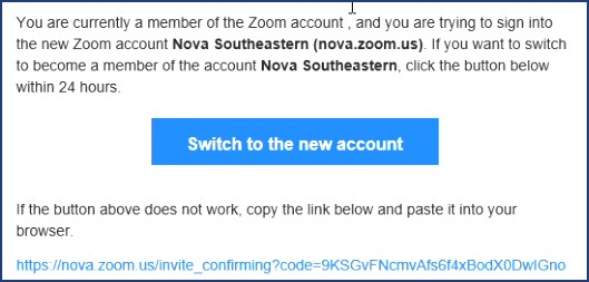 Zoom Switch Account