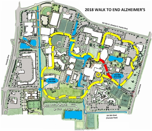 nova southeastern university campus map Nsu To Host The 2018 Walk To End Alzheimer S This Saturday Nsu nova southeastern university campus map
