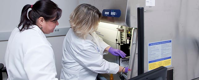 Cytometry Technicians using equipment