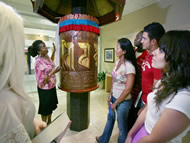Students with Prayer Wheel