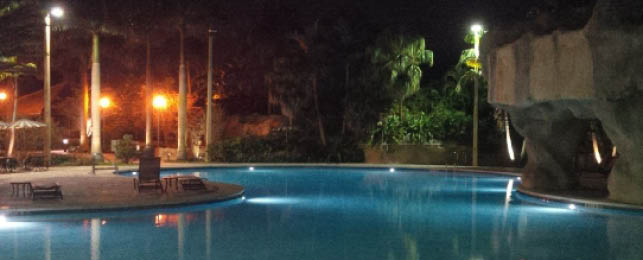 Leisure Pool at Night